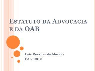 Estatuto da Advocacia e da OAB