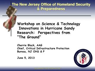 The New Jersey Office of Homeland Security & Preparedness