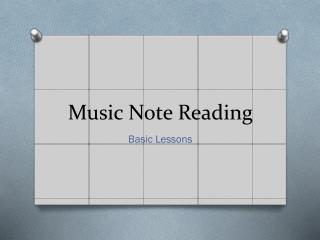 Music Note  Reading