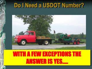 Do I Need a USDOT Number