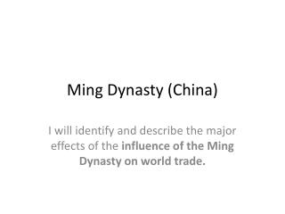 Ming Dynasty (China)