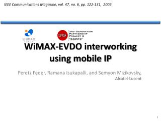 WiMAX-EVDO interworking using mobile IP