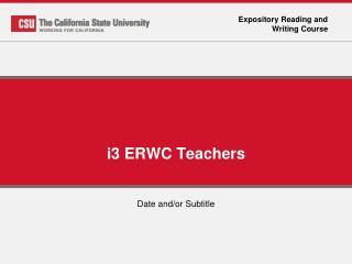 i3 ERWC Teachers