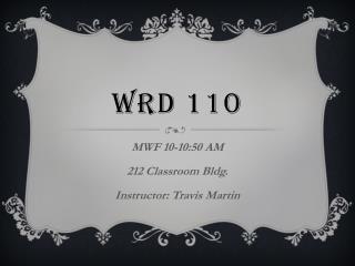 WRD 110