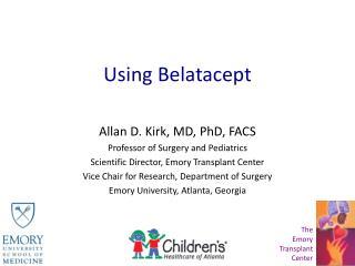 Using Belatacept
