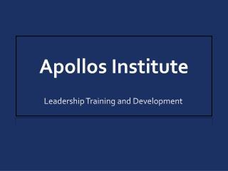 Apollos Institute