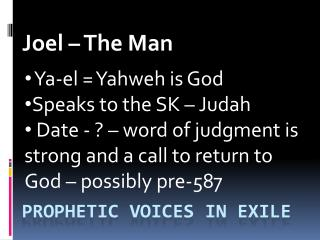 ProphEtic  Voices in Exile