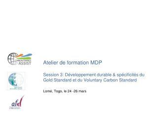 Quiz et introduction10 min Présentation de l'AND du Togo15 min Spécificités du GS15 min