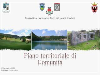 Piano  territoriale  di  Comunità