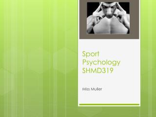 Sport  Psychology SHMD319
