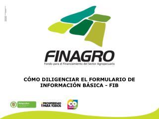 CÓMO DILIGENCIAR EL FORMULARIO DE INFORMACIÓN BÁSICA - FIB