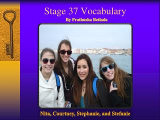 Stage 37 Vocabulary