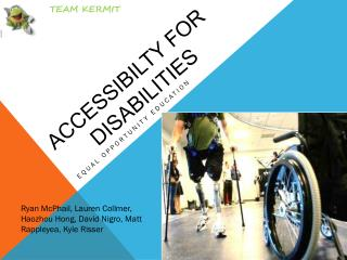ACCESSIBILTY FOR          DISABILITIES
