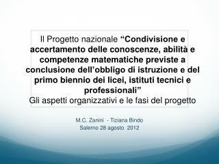 M.C. Zanini  - Tiziana Bindo Salerno 28 agosto  2012