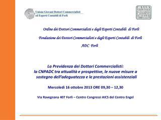 Fondazione dei  Dottori Commercialisti e degli Esperti Contabili   di Forlì
