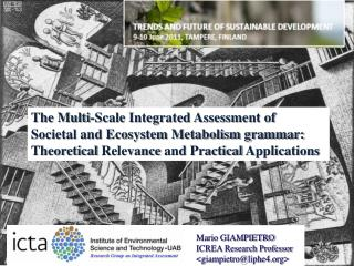 The Multi-Scale Integrated Assessment of Societal and Ecosystem Metabolism grammar: