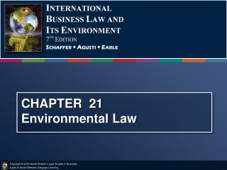 CHAPTER  21   Environmental Law