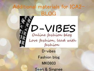 Additional materials for ICA2-BLOG