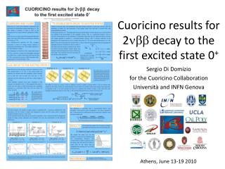 Cuoricino  results for  2 nbb decay to  the first  excited  state 0 +