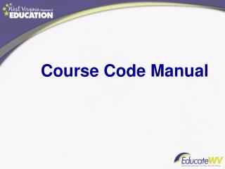 Course Code Manual
