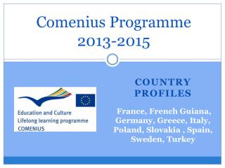 Comenius Programme  2013-2015