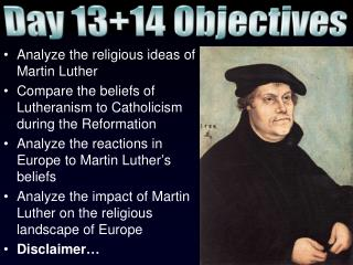 Analyze the religious ideas of Martin Luther