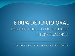 ETAPA DE  JUICIO  ORAL