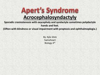 Apert's Syndrome