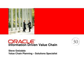 Information Driven Value Chain Steve Gwizdala Value Chain ...