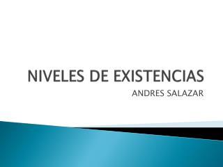 NIVELES DE EXISTENCIAS