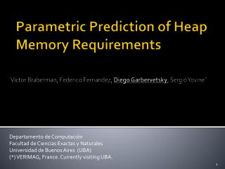 Parametric Prediction of Heap Memory Requirements