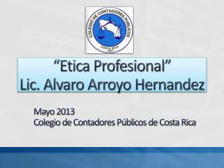 Mayo 2013 Colegio de Contadores Públicos de Costa Rica