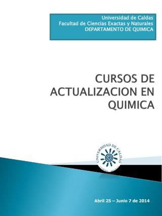 CURSOS DE ACTUALIZACION EN QUIMICA
