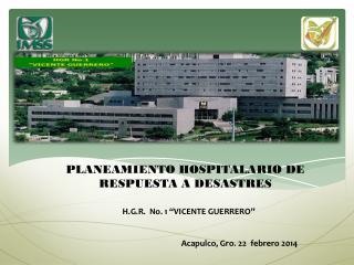 PLANEAMIENTO HOSPITALARIO DE RESPUESTA A DESASTRES