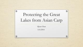 Protecting the Great Lakes from Asian Carp