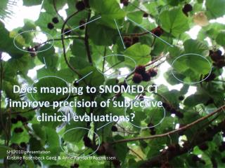 Does mapping to SNOMED CT improve precision of subjective clinical evaluations ?