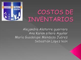 COSTOS DE INVENTARIOS