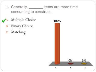 1.  Generally, _______ items are more time consuming to construct.