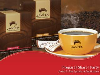 Prepare  l  Share  l  Party Javita 3-Step System of Duplication
