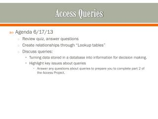 Access Queries