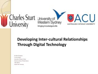 Dr Maree Gruppetta Mr Terry Mason University of Western Sydney Associate professor Ninetta Santoro