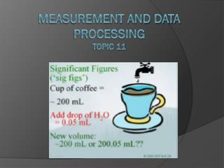 measurement and data processing Topic 11