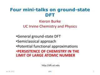 Four mini-talks on ground-state DFT