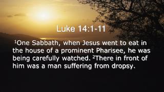 Luke 14:1-11