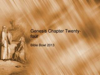 Genesis Chapter Twenty-four
