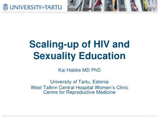 Scaling-up of HIV and Sexuality Education