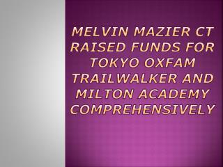 Melvin Mazier CT