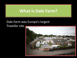 What is Dale Farm?
