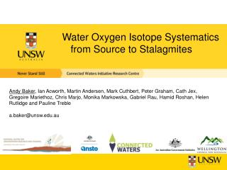 Water Oxygen Isotope Systematics from Source to Stalagmites