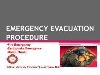 EMERGENCY EVACUATION PROCEDURE
